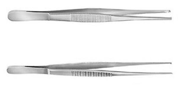Pinsett kirurgisk rett 1x2t 10,5cm