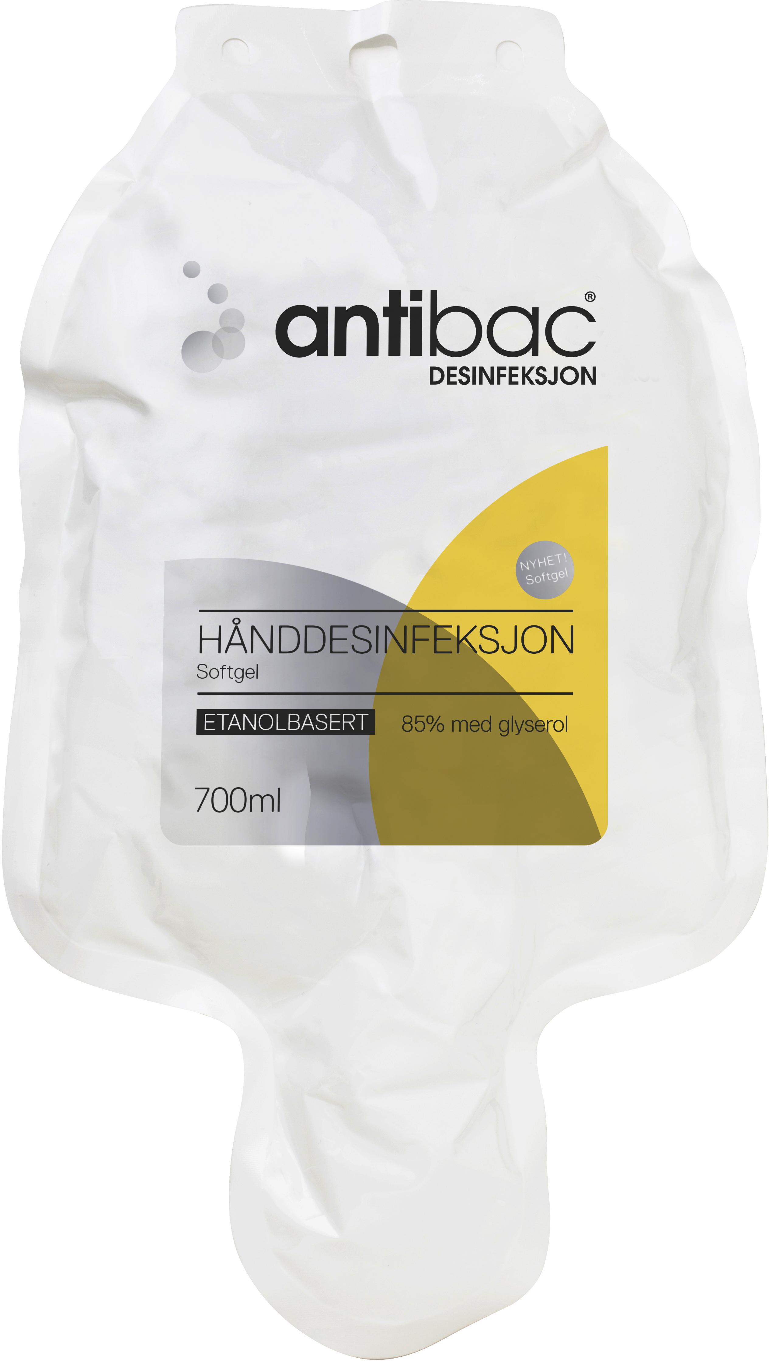 Hånddesinfeksjon Antibac 85% Softgel softbag 700ml