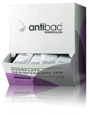 Desinfeksjon Antibac 75% serv overf enkeltp 150stk