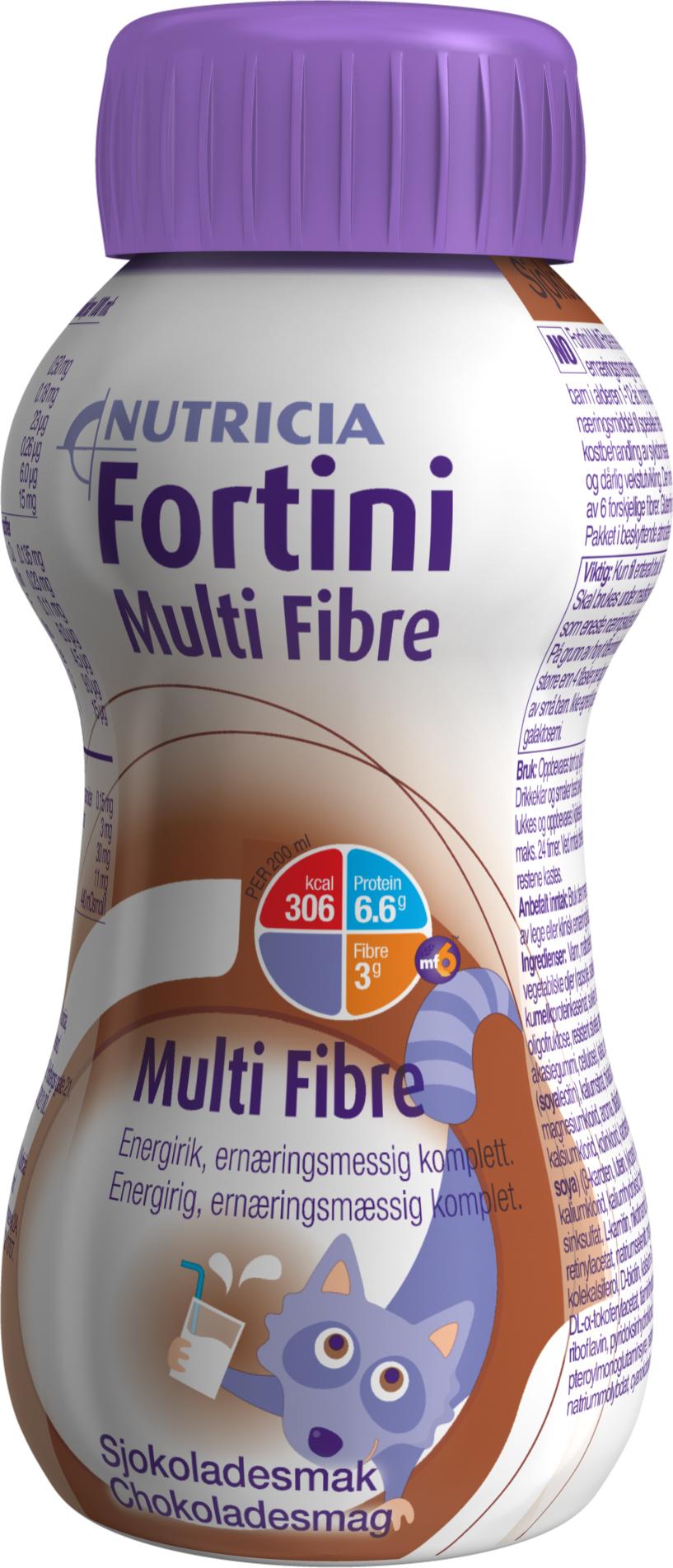 Drikk Fortini Multi Fibre sjokolade 200ml