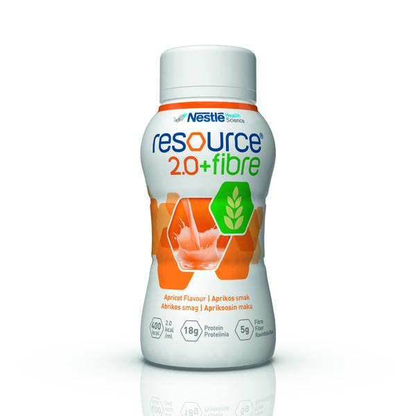 Drikk Resource 2.0+ fiber aprikos 200ml