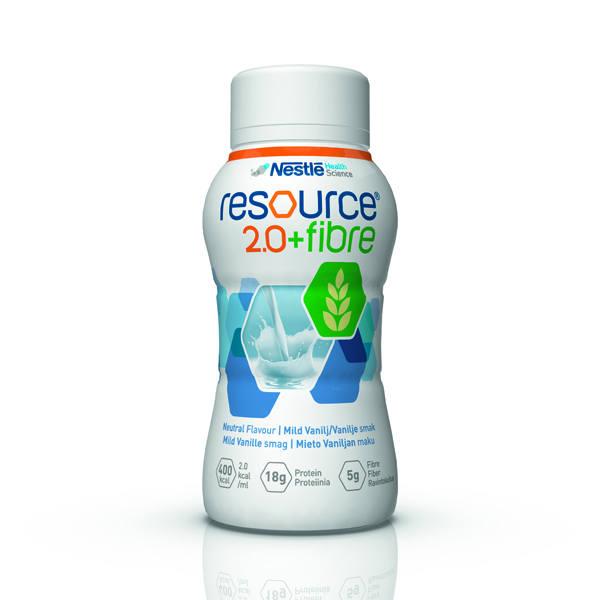 Drikk Resource 2.0+ fiber vanilje 200ml