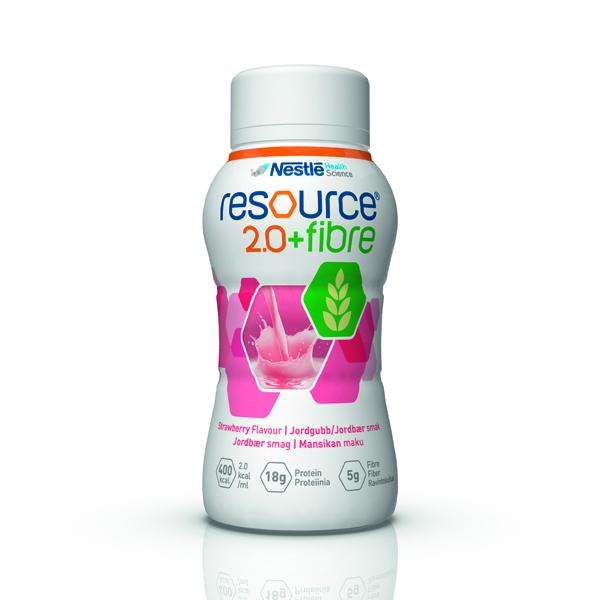 Drikk Resource 2.0+ fiber jordbær 200ml