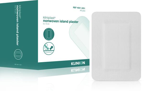 Bandasje Kliniplast nw m/pad vanntett 9x10cm