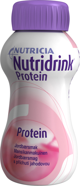 Drikk Nutridrink Protein jordbær 200ml 4pk