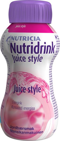Drikk Nutridrink Juice style jordbær 200ml