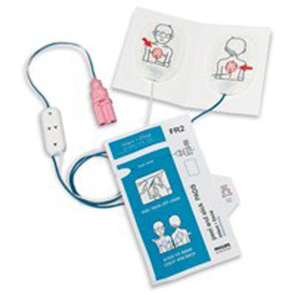 Hjertestarter HeartStart elektr FR/FR2 barn par