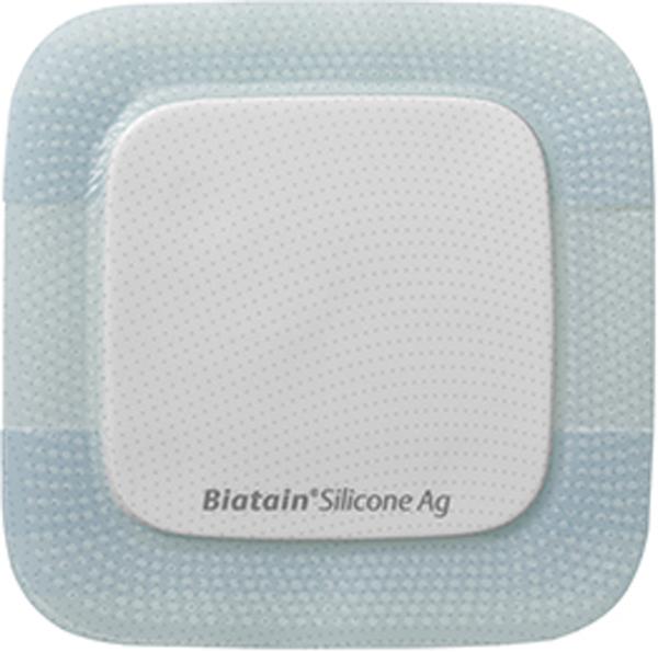 Bandasje sølv silicone Biatain AG 7,5x7,5cm