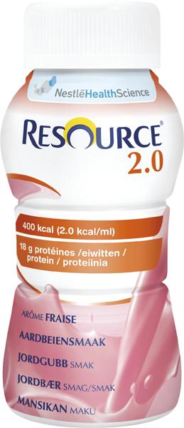 Drikk Resource 2.0 jordbær 200ml