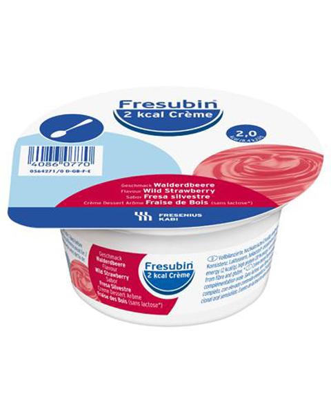Tilskudd Fresubin 2kcal Creme markjordbær 125gr