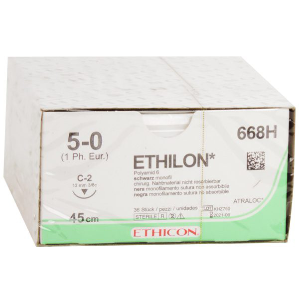 Sutur Ethilon 668H 5-0 M1 45cm