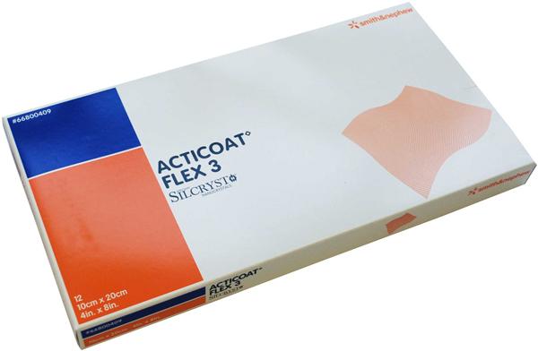 Bandasje sølv Acticoat Flex 3 10x20cm