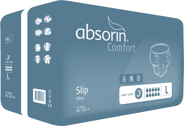 Bleie Absorin Comfort Slip Ultra L 15pk