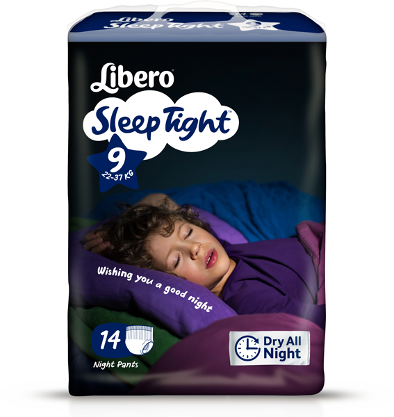 Bleie barn Libero Sleep Tight 9 14pk