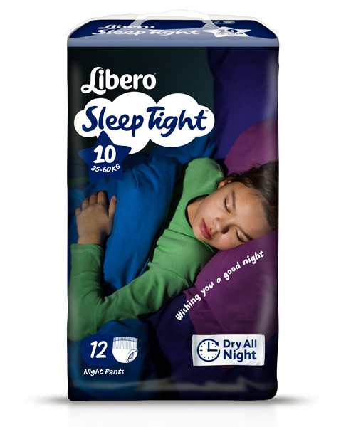 Bleie barn Libero Sleep Tight 10 12pk