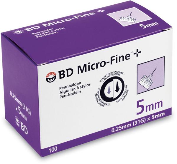 Kanyle til insulinpenn BD Microfine+ 31Gx5mm
