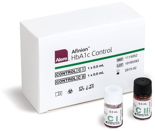 Afinion HbA1c Kontroll lav/høy 2x0,5ml