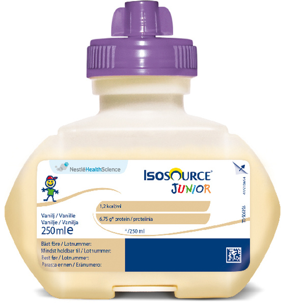Sondemat Isosource Jr vanilje smartflex 250ml