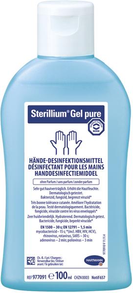 Hånddesinfeksjon Sterillium gel pure 85% 100ml