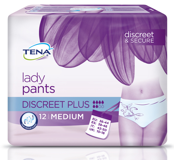 Bleie Tena Lady Pants Discreet Plus M 12pk