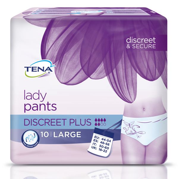 Bleie Tena Lady Pants Discreet Plus L 10pk
