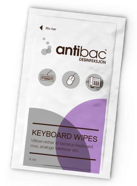 Desinfeksjon Antibac tastatur våtservietter 80stk