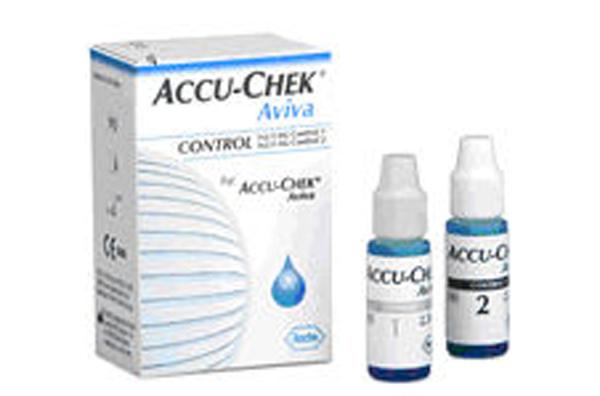 Accu Chek Aviva glucose kontroll 2 nivå 2,5ml 2pk
