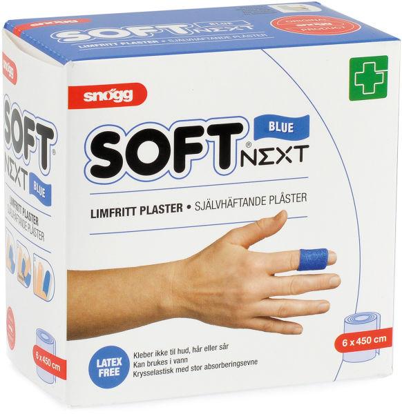 Plaster limfritt Soft NEXT 6cmx4,5m blå