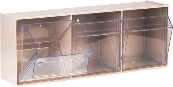 Dispenser hyller til tralle m/3 skuffer 60x16x24cm