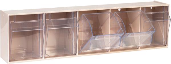 Dispenser hyller til tralle m/5 skuffer 60x10x16cm