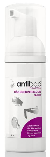 Hånddesinfeksjon Antibac Pharma skum 50ml