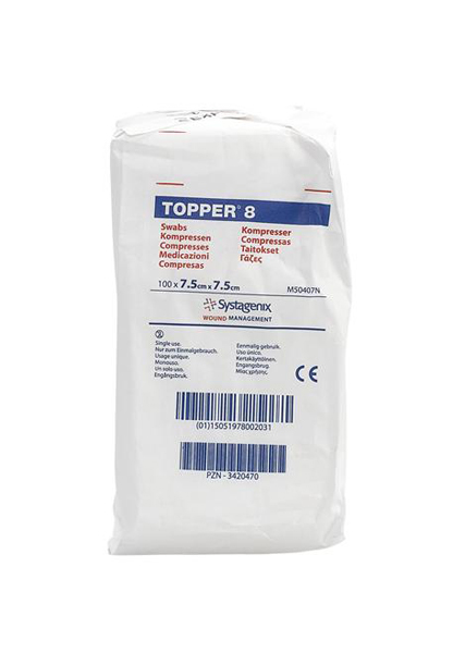 KOMPRESS GAS TOPPER 8 7,5X7,5CM