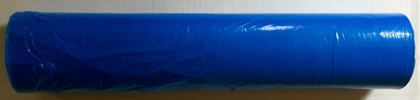 Sengeplast m/blå plastfilm 90x150cm 15my 125stk