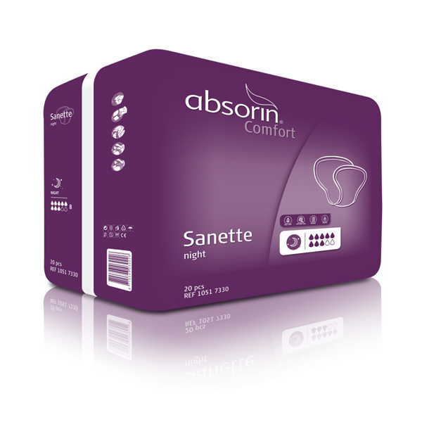Bleie Absorin Comfort Sanette Night 20pk