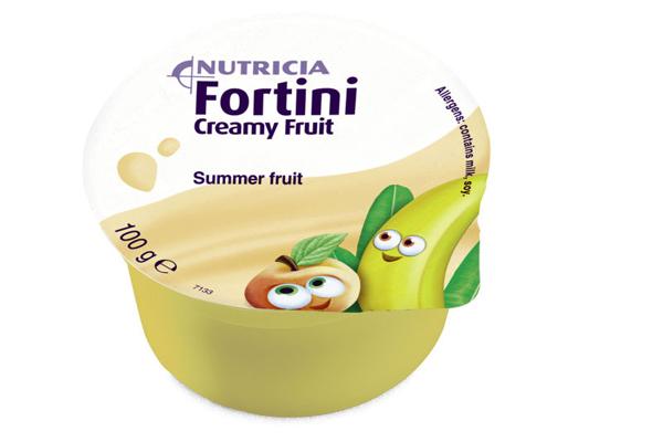 Tilskudd Fortini Creamy sommerfrukt 100g 4pk