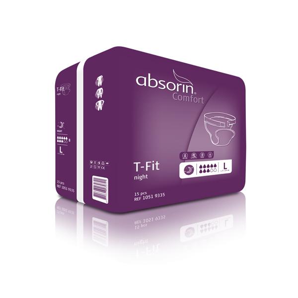 Bleie Absorin Comfort T-Fit Night L 15pk
