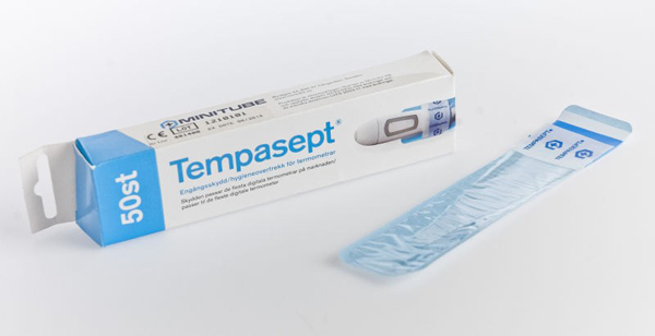 Termometerbeskyttelse Tempasept u/salve blå