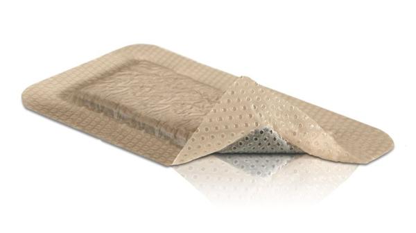 Bandasje sølv skum Mepilex Border AG 10x20cm