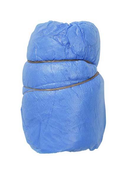 Skoovertrekk plast m/strikk 41cm blå