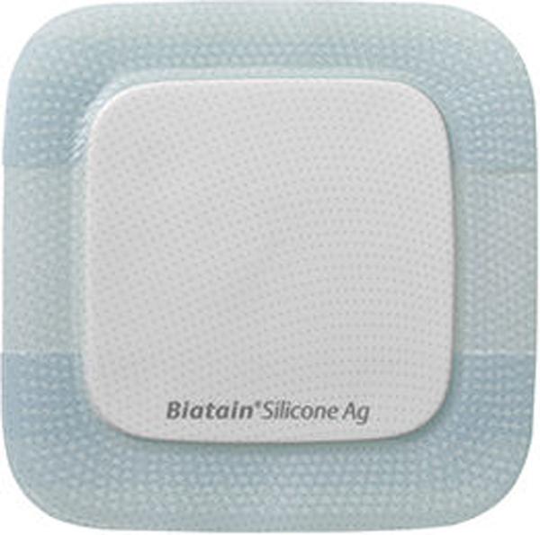 Bandasje sølv silicone Biatain AG 15x15cm