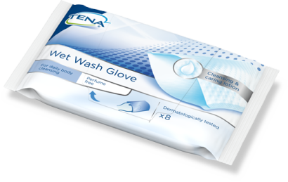 Vaskevott Tena Wet Wash Glove u/parfyme