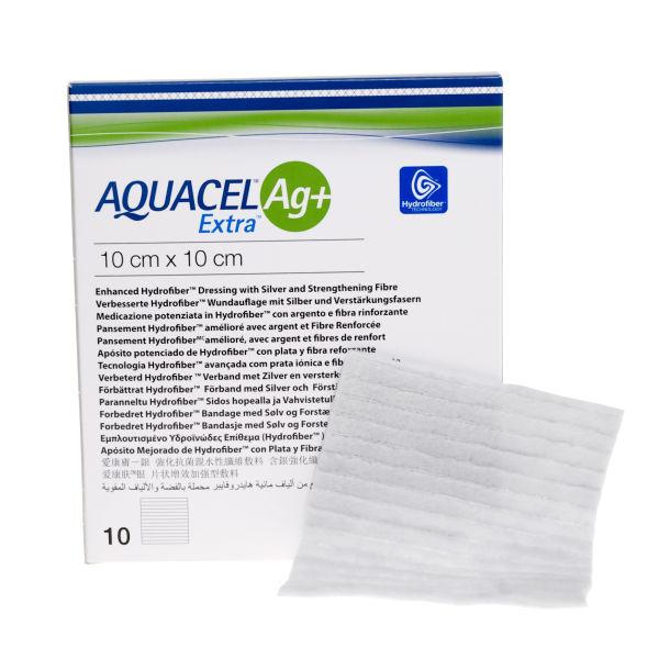 Bandasje sølv Aquacel AG+ Extra 10x10cm