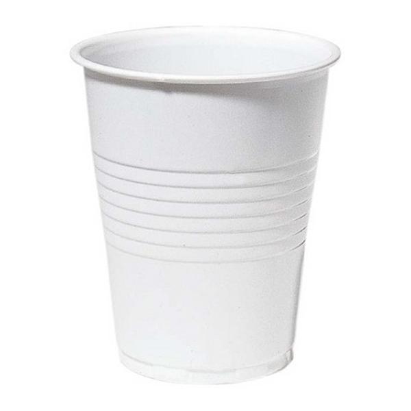 Drikkebeger plast 21cl hvit