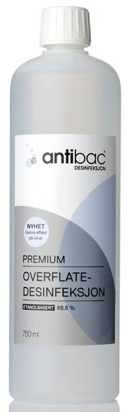 Desinfeksjon Antibac 88,8% Premium overflate 750ml