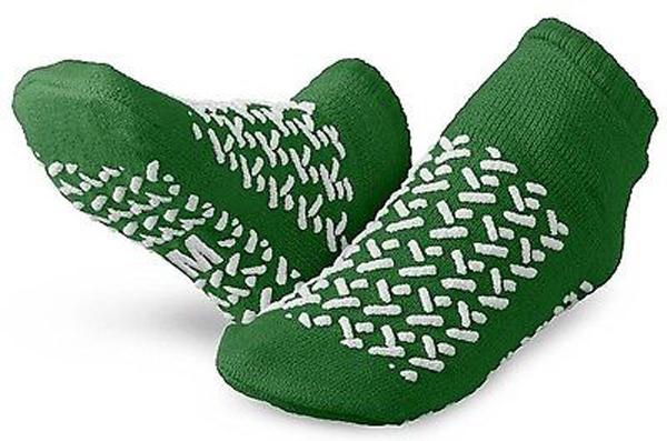 Sokker antiskli dobbel M grønn par