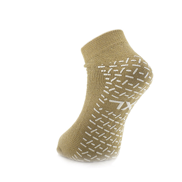 Sokker antiskli dobbel XL beige par