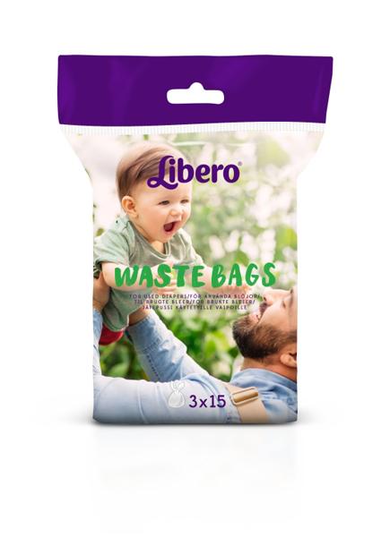 Avfallspose Libero waste bags 3rl à 15poser