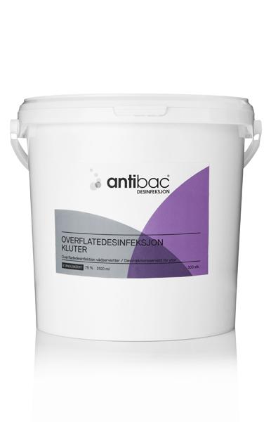 Desinfeksjon Antibac 75% klut overfl spann 300stk