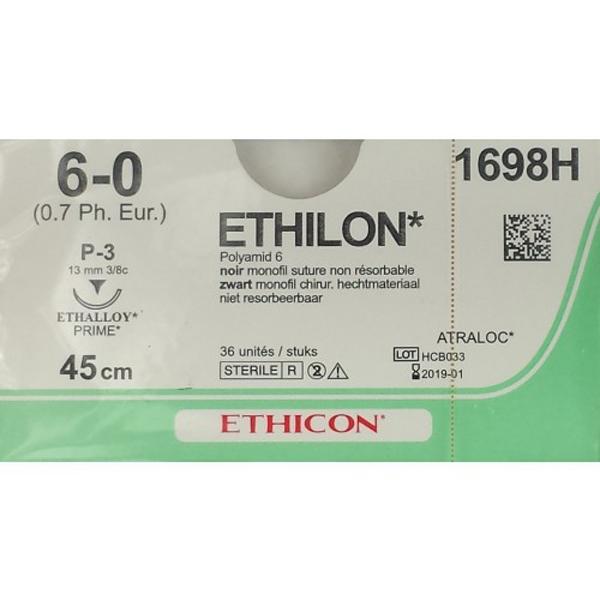 Sutur Ethilon 1698H 6-0 P3 45cm