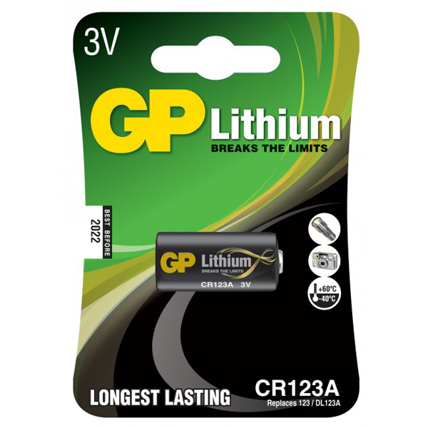 Batteri GP CR123A Lithium